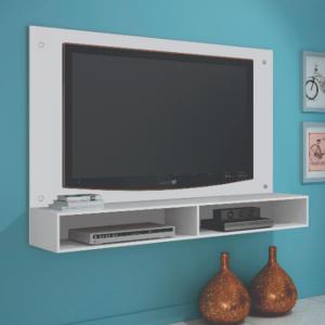 Painel TV 47'' 02 Nichos 120cm Branco