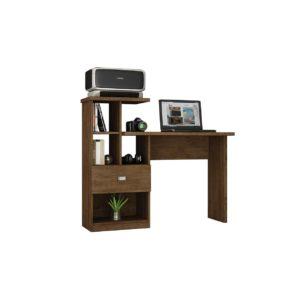Escrivaninha Mesa de Computador com Gaveta -  Avelã Rústico