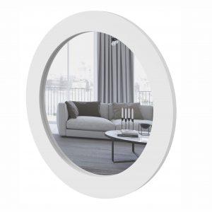 Quadro Redondo Com Espelho Anápolis Branco