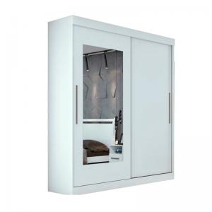 Roupeiro Montebello 02 Portas Com Espelho Branco