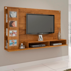 Painel Tv 60'' 182cm Revisteiro e Porta Retrato Nobre