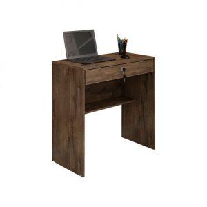 Escrivaninha Mesa Computador Gaveta Chave Cacau