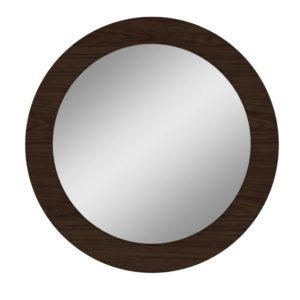 Quadro Redondo com Espelho Anápolis - Imbuia Soft (Fosco)