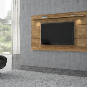 Painel para Tv até 60 polegadas com luminária LEd - Nobre