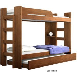 Beliche Valverde com cama auxiliar - Imbuia