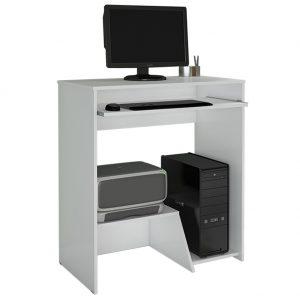 Escrivaninha Mesa Desktop CPU e Impressora Branco