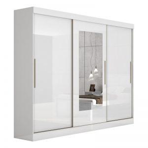 Roupeiro Montebello 03 Portas Branco Brilho