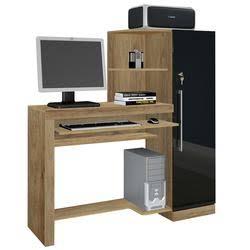 Escrivaninha para computador - Canela com Onix (Porta)