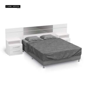 Cabeceira para cama box casal - Branco