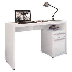 Escrivaninha para Notebook - Branco Brilho