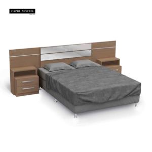 Cabeceira para cama box casal com criado mudo - Nature