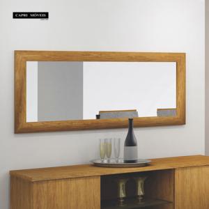 Quadro Retangular Espelho Zurick - Canela (Não acompanha Buffet)