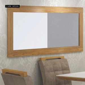 Quadro Retangular Espelho Zurick Imbuia Mel