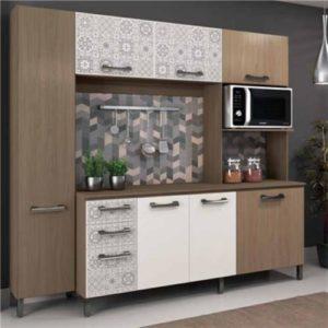 Cozinha Completa - Nature com Branco