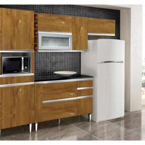 Cozinha 8 Portas 4 Gavetas Adega Caramelo
