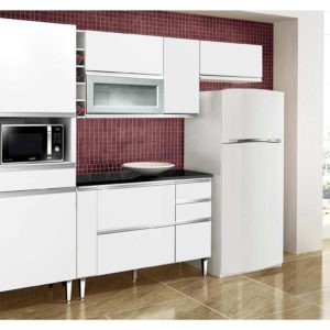 Cozinha Completa 8 Portas 4 Gavetas Adega Branco