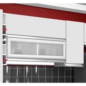 Armário de Cozinha Aéreo Adega 3 Portas Branco
