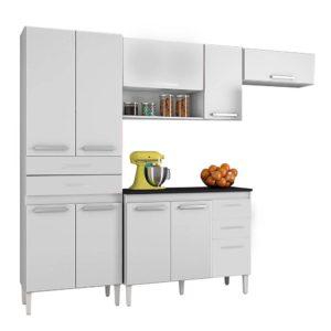 Cozinha Completa 9 Portas 5 Gavetas Branco