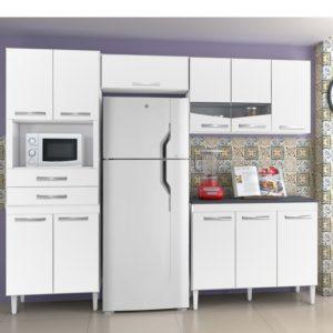 Kit Cozinha Completa 11 Portas 2 Gavetas Branco