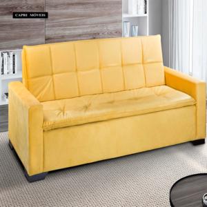 Sofá Cama 709 Tecido Animale Amarelo