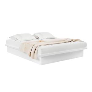 Cama de Casal de 1,65 X 2,01M-100% MDF - Cor Branco BB
