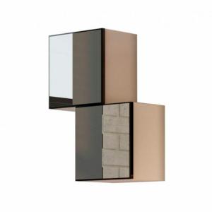 Kit 02 Nichos com Espelhos 0,30 X 0,30M-Cor Fendi