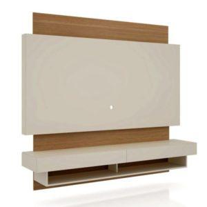 Home Suspenso com Luminária LED 1,80M-100%MDF-Cor off White/Freijo WJ