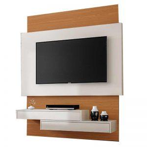 Painel Úrica Tv 55'' 140cm Off White/Freijó 02 Gavetas