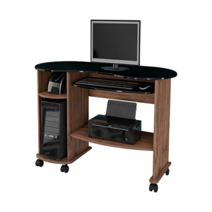 Escrivaninha Mesa Computador com duas prateleiras-Cor Nobre NN