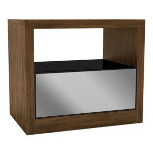 Criado Mudo com Espelho/01 Gaveta-100% MDF-Cor Nobre NN