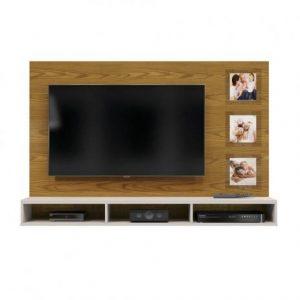 Painel Ipanema 160cm TV 55'' Carvalho Ouro/Off White