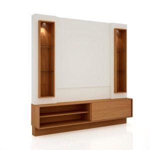 Home/Painel com LED/04 Prateleiras de vidro - 1,80M