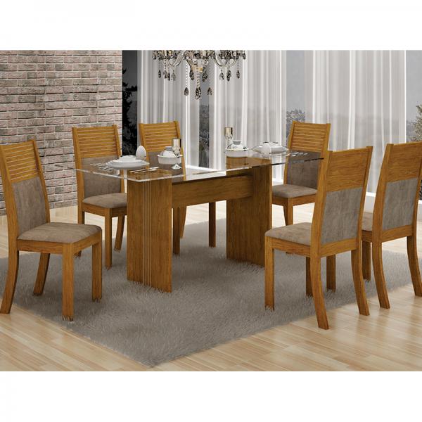 Mesa de Jantar 160x80 com 06 Cadeiras