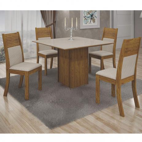 Mesa Napoli 90X90 Tampo Off White 04 Cadeiras Metalasse