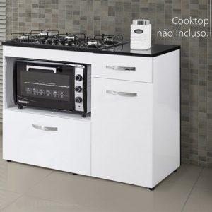 Armário Cooktop Ref 118 Cor Branca