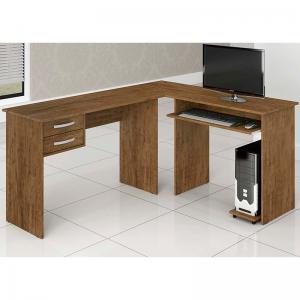 Estação de Trabalho 160x134 cm Desktop Avelã