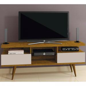 Bancada Rack Tv até 65'' REF9641 1,80m Mel/Laca Off White