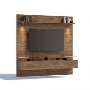 Painel Belize Tv 60'' 02 Gavetas Led Mad Fosco 180cm