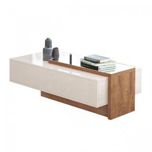 Mesa de Centro Off White c/ Amendoa Espelhada
