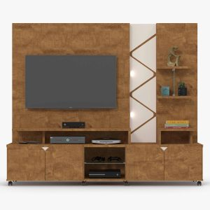 Home/Painel 2,10m Tv até 55'' Com Led Amendoa/Off White