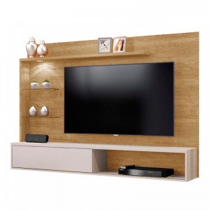 Painel Kansas p/ Tv até 55'' LED Damasco/Off White