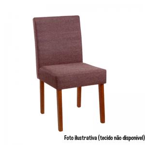 Cadeira Acolchoada Madeira Acacia Imbuia Mel