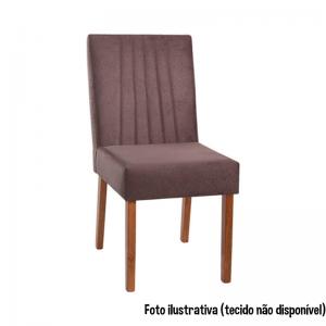 Cadeira Acolchoada Madeira Ambar Ref 310 Imbuia Mel