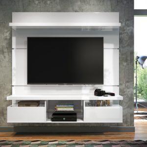 Painel p/ Tv até 55'' 1,80cm Branco Brilho