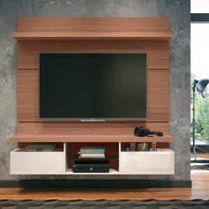Painel p/ Tv até 55'' 1,80cm Nature c/ Off White