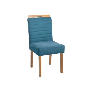 Cadeira Acolchoada Madeira Pérola Ref 080 Imbuia Mel