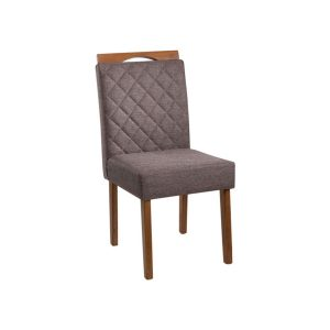 Cadeira Acolchoada Madeira Topázio Ref 100 Imbuia Mel