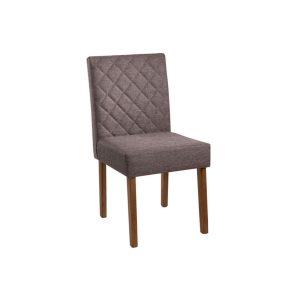 Cadeira Acolchoada Madeira Topázio Ref 090 Imbuia Mel