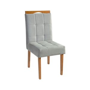 Cadeira Acolchoada Madeira Turquesa Ref 240 Imbuia Mel