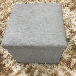 Pufe Baú Quadrado Desmontável 40x40cm Cinza
